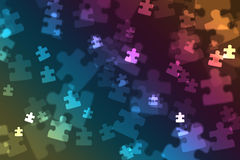 Puzzle piece bokeh Royalty Free Stock Image