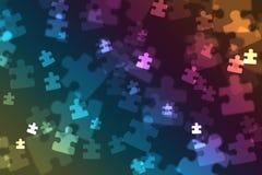 Puzzle piece bokeh Royalty Free Stock Image
