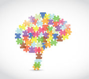 Puzzle piece brain illustration Stock Photo