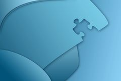 Puzzle piece business backgrou Royalty Free Stock Photo