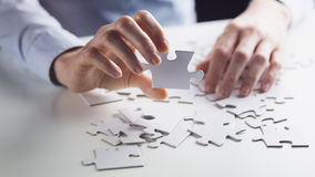 Puzzle Piece - Business Concept Royalty Free Stock Photo