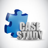 Puzzle piece and case study sign. illustration Royalty Free Stock Photography