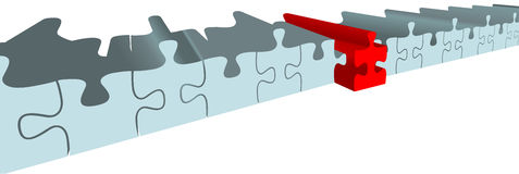 Puzzle piece choose best solution. Find the best solution to help solve a puzzle of answer pieces Royalty Free Stock Image