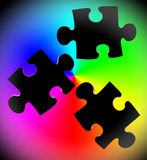 Puzzle piece color Royalty Free Stock Photo