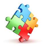 Puzzle Piece. This is a computer generated and 3d rendered picture Royalty Free Stock Image