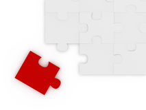 Puzzle Piece on the Corner Stock Photos