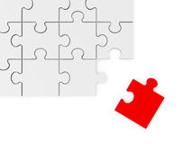 Puzzle Piece on the Corner Royalty Free Stock Images