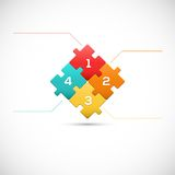 Puzzle piece 3D infographics business concept. 3D Puzzle piece infographics business concept vector  Vector Illustration for your design Royalty Free Stock Photo