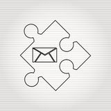 puzzle piece design Royalty Free Stock Photo