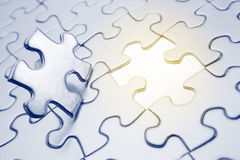 Puzzle piece. Final piece of jigsaw puzzle Stock Photography