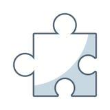 Puzzle piece game line icon. Illustration design Stock Photos