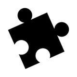 Puzzle piece game line icon. Illustration design Stock Images