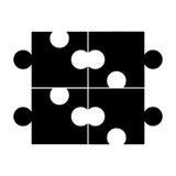 Puzzle piece game line icon. Illustration design Royalty Free Stock Photo