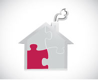 Puzzle piece home illustration design Royalty Free Stock Image