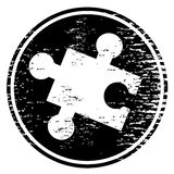 Puzzle piece icon Stock Image