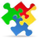 Puzzle piece icon Stock Images