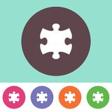 Puzzle piece icon Royalty Free Stock Photography