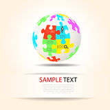 Puzzle piece infographics Royalty Free Stock Photo