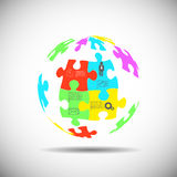 Puzzle piece infographics Royalty Free Stock Photography