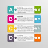 Puzzle piece infographics business concept. Royalty Free Stock Image