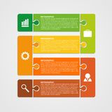 Puzzle piece infographics business concept. Vector illustration Stock Image