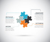Puzzle piece infographics business concept vector Stock Photography