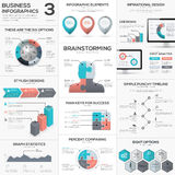 Puzzle piece infographics vector business jigsaw metaphors set Stock Photography