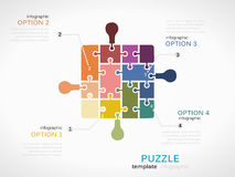 Puzzle piece inforgraphics Stock Images
