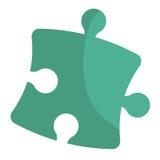 Puzzle piece isolated flat icon. Stock Photo