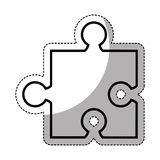 Puzzle piece isolated icon. Illustration design Stock Image