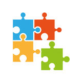 Puzzle piece isolated icon. Illustration design Royalty Free Stock Photography