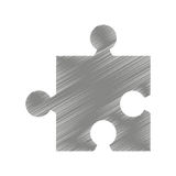 Puzzle piece isolated icon. Illustration design Stock Photography