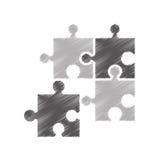 Puzzle piece isolated icon. Illustration design Stock Photos