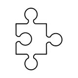Puzzle piece isolated icon. Illustration design Royalty Free Stock Images