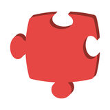 Puzzle piece isolated icon over white background. Vector illustration Stock Image