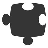 Puzzle piece isolated icon over white background. Vector illustration Royalty Free Stock Photo