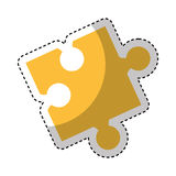 Puzzle piece isolated icon Stock Photos