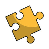 Puzzle piece isolated icon Royalty Free Stock Photography