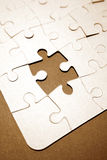 Puzzle with piece missing Stock Photos