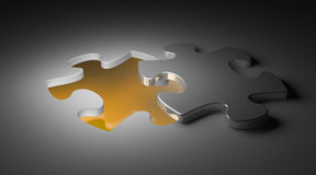 Puzzle piece the missing piece Stock Images