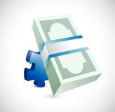 Puzzle piece and money illustration design Stock Images