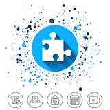 Puzzle piece sign icon. Strategy symbol. Royalty Free Stock Photos