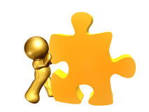 Puzzle piece solution Stock Photo