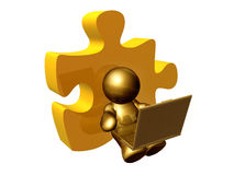 Puzzle piece solution. 3d render Stock Photography