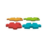 Puzzle piece solution icon. Vector illustration design Stock Photography