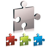 Puzzle piece vector icon. Royalty Free Stock Images