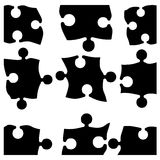 Puzzle pieces. On white vector illustration Royalty Free Stock Image