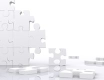 Puzzle in pieces Royalty Free Stock Images