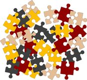 Puzzle pieces. Illustration for design Royalty Free Stock Image