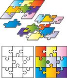 Puzzle Pieces. A variety of different colored puzzle pieces Stock Photos